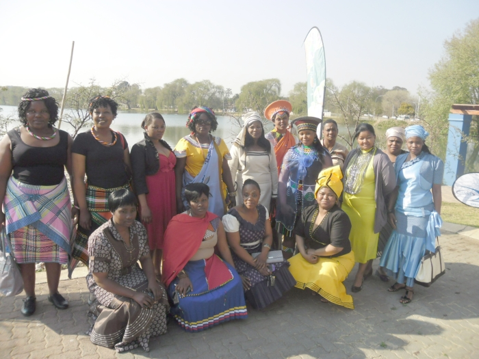 Ladies from Ekurhuleni Municipality – dressed in their traditional wear