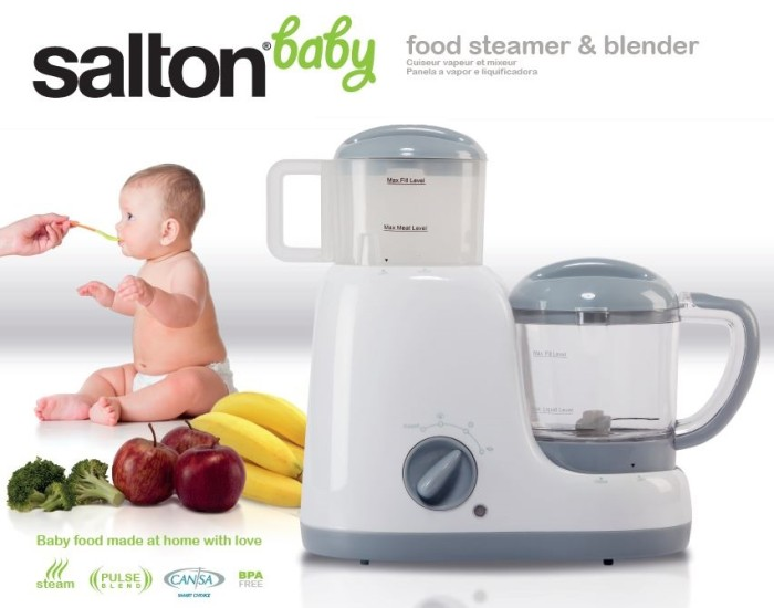 Salton Baby CANSA Seal Baby Food Steamer and Blender