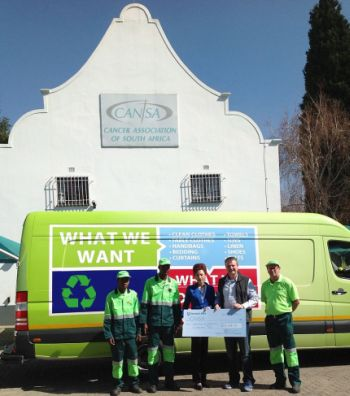 i-Collect hands CANSA a cheque for R16 858-76