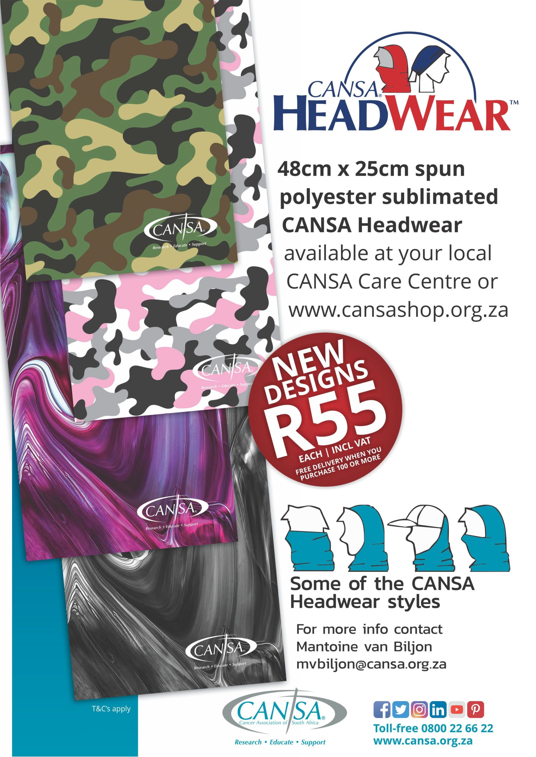 Cansa Headwear Face Masks And Face Shields Cansa The Cancer Association Of South Africa