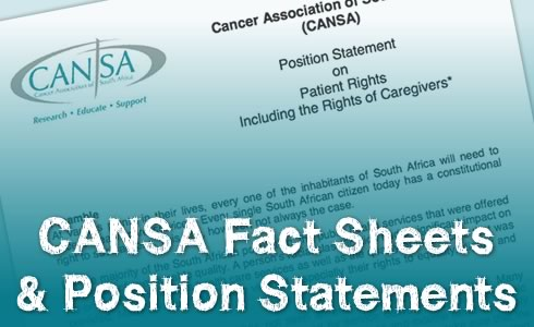 CANSA Fact Sheets & Position Statements