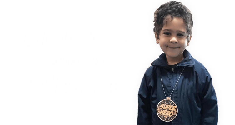 Heroes come in all sizes
